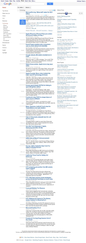 Google News: Technology at Tuesday Sept. 16, 2014, 5:06 a.m. UTC