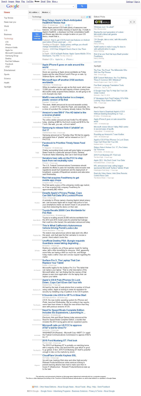Google News: Technology at Thursday Sept. 18, 2014, 11:08 p.m. UTC