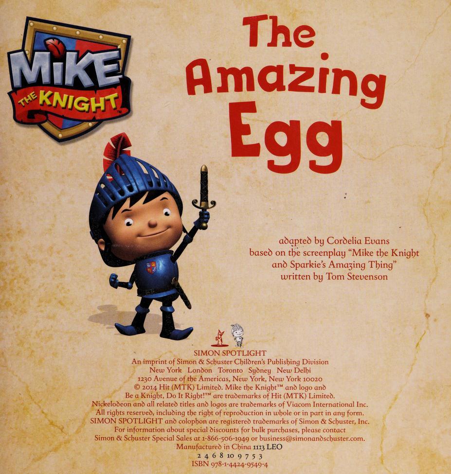The amazing egg by Cordelia Evans