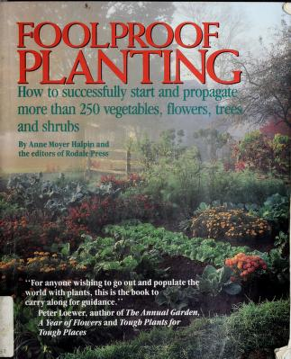Cover of: Foolproof Planting | Anne Moyer Halpin