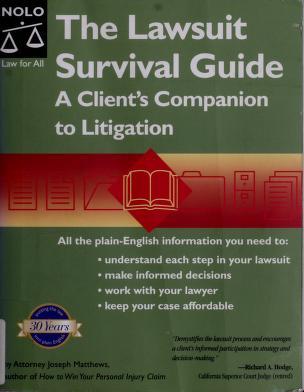 Cover of: The lawsuit survival guide | J. L. Matthews